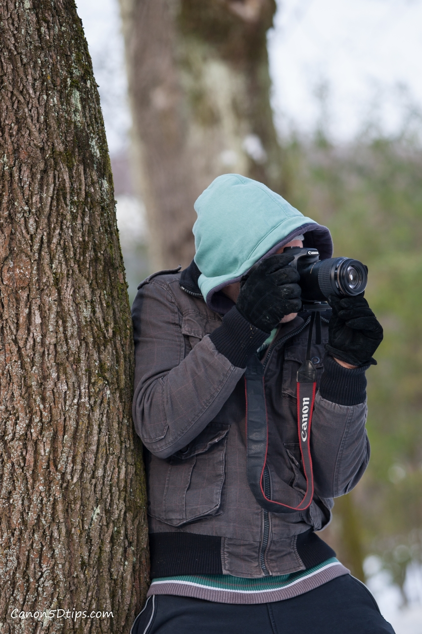 Try bracing your body against a tree or wall to steady yourself. Photo courtesy of  Canon5Dtips.com