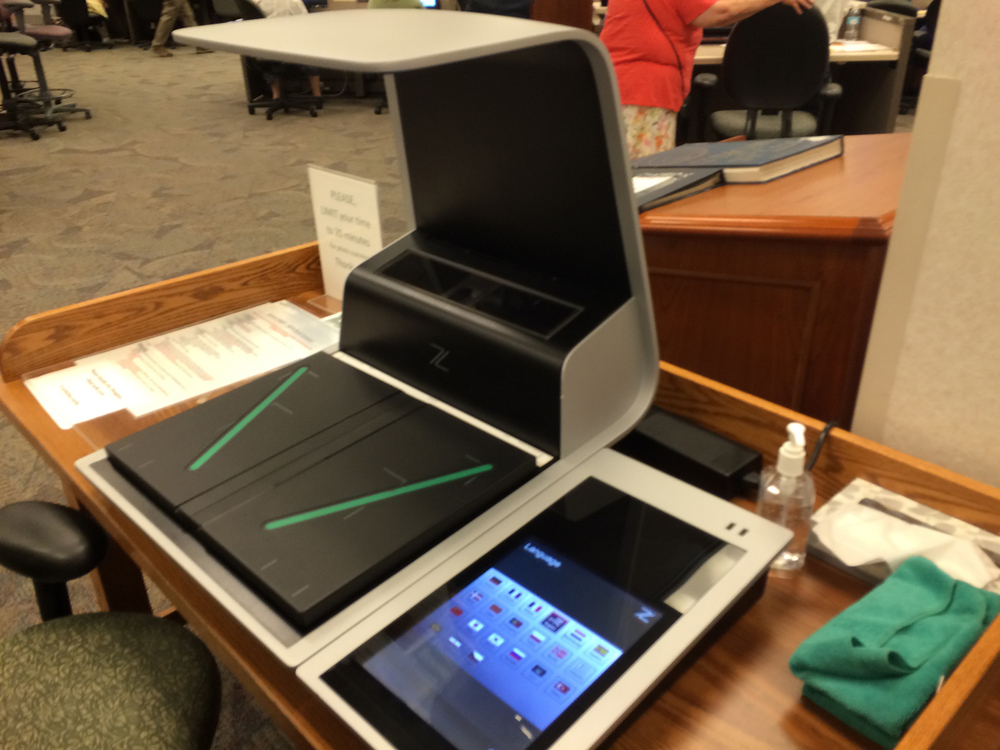 A book scanner for scanning old public-domain books or oversize photos or artwork.