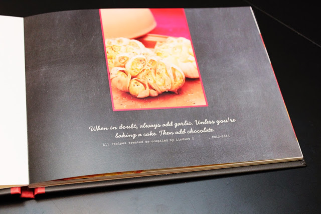 Lindsay at  The Accidental Wallflower  did a beautiful job combining photos and recipes to create her custom cookbook.
