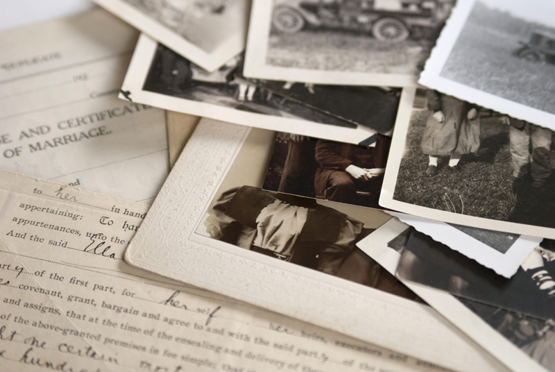 "Your family's historical documents -- ""Use them or lose them."""