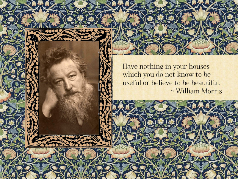 "How to choose which photos to keep? ""William Morris"" your photo collection."