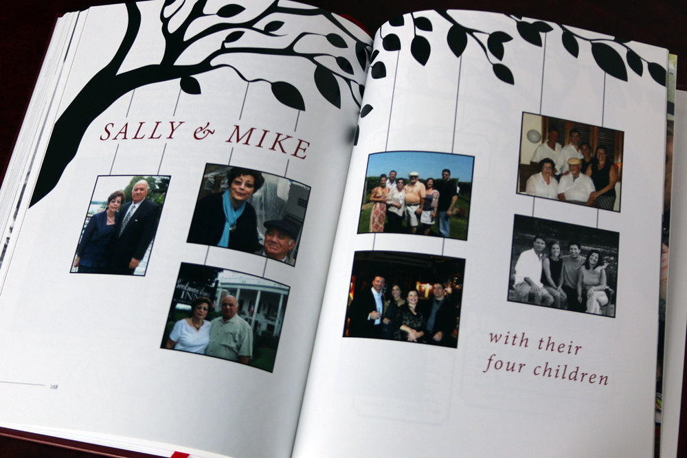 A series of custom family trees concludes the book.