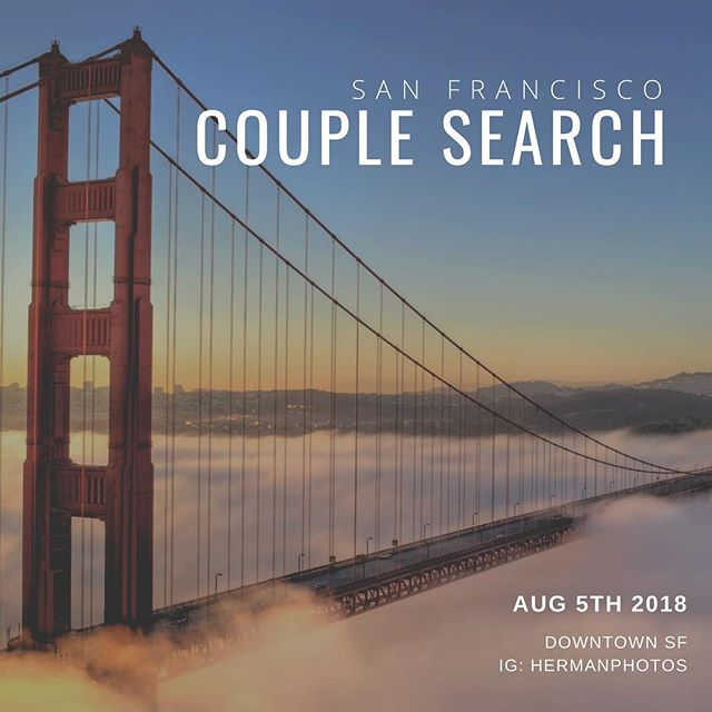 COUPLE SEARCH!!! We will be heading to SF for our clients' wedding during the first week of August! Looking for #couples in #sanfrancisco that would like to do an engagement & style photoshoot with us on 8/5! Contact us for more details! #sanfranciscoengagement #sanfranciscowedding #sanfranciscobride