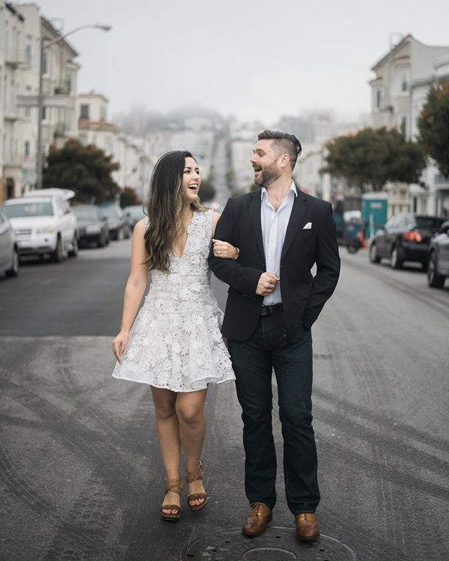 Any street in San Francisco is a great background with uphill and downhill. Miss this place and our couples so much!