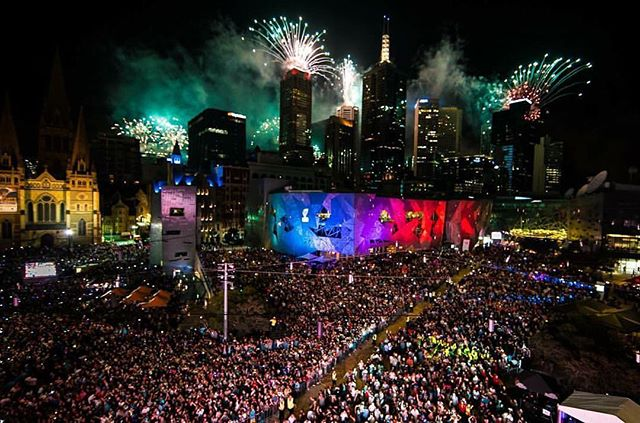 Happy to have supplied some lights for the new year celebrations at Fed Square.  Thanks for getting us involved Daniel, Rob, Bryce and the crew from CVA @federationsquare looks #EPIC !  #corporatevisionaustralia #lighting #fedsquare #melbourne #wow #fireworks #2017 #bang #events #light #power #create #city