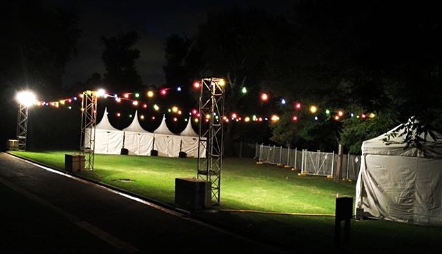 All ready for Zoo Twilights this summer @melbourne_zoo @zoosvictoria  #melbournezoo #twilight #zoo #livemusic #melbourne #animals #musicagainstwildlifeextinction #festoon #truss #floods