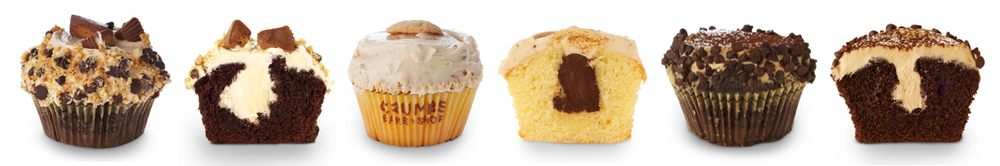 Left to right: PB, Cookie Dough & Cappuccino