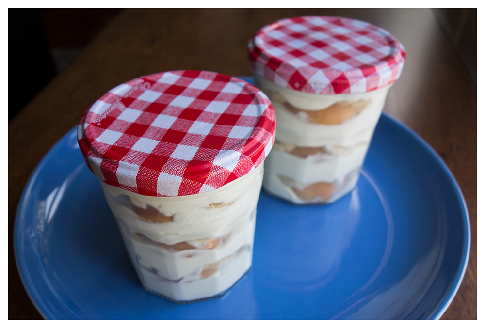 Aren't these (Bonne Maman) jars just so darn cute? Props to my coworker for giving me the idea of using these for desserts (and cocktails)!