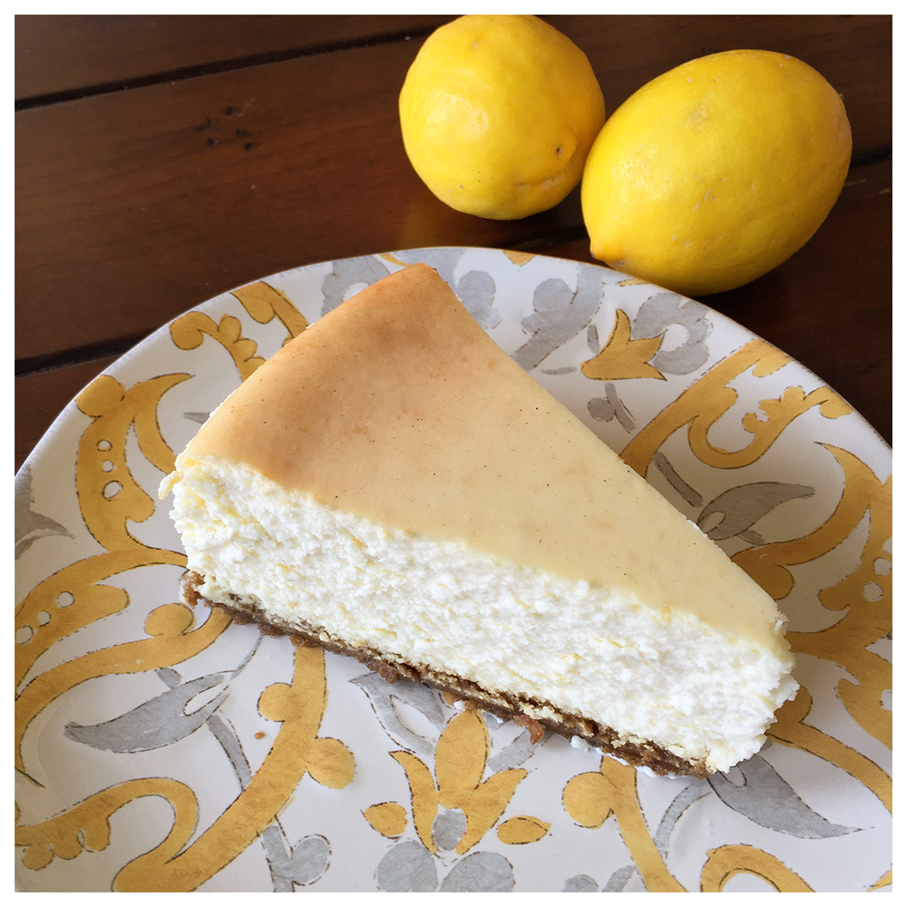 Recipe: Lemon Cheesecake with Gingersnap Crust — Dessert Fiend