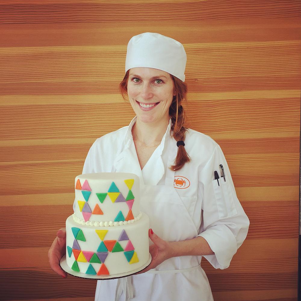 My geometric fondant cake