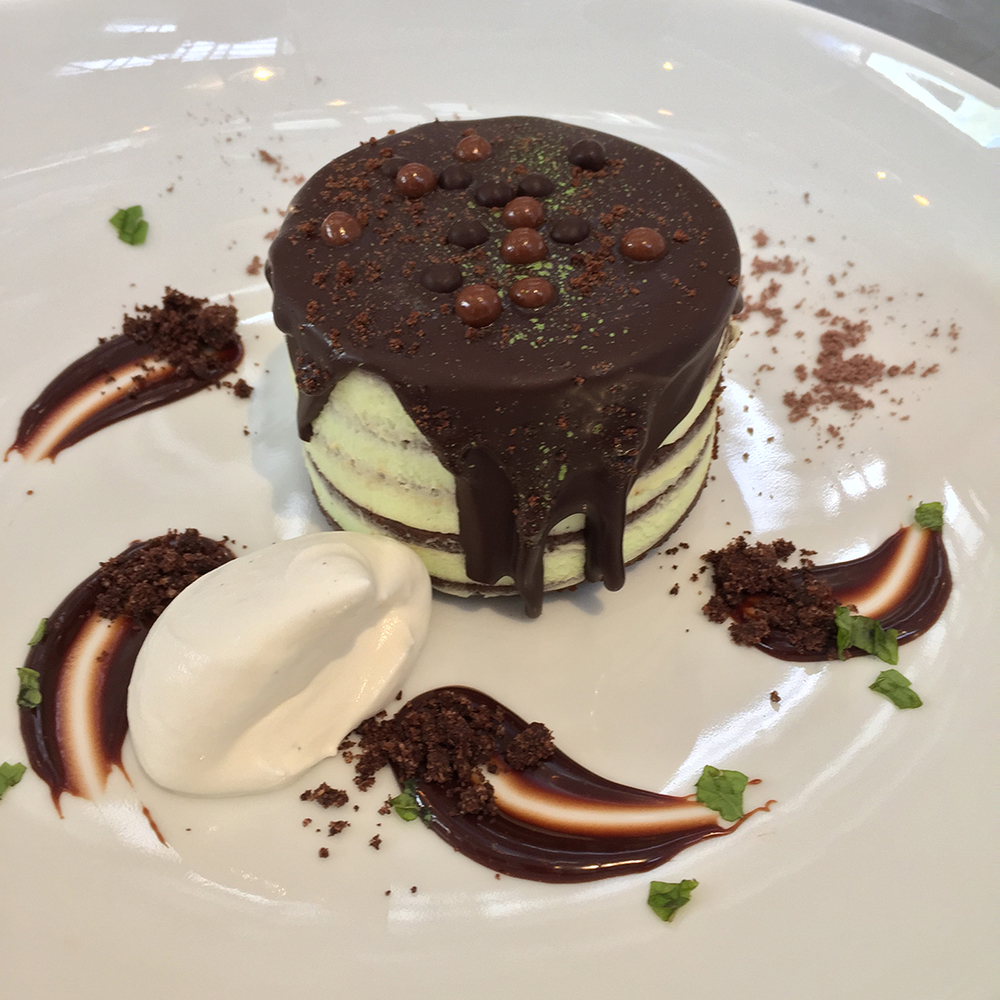 Grasshopper chocolate cake