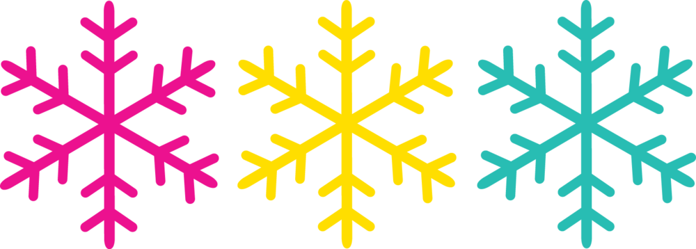 The snowflakes were my signature design from portfolio building in college. They encompass a lot about me, from the clean lines, to the bright colors, to the symbolism of growing up in the snow.
