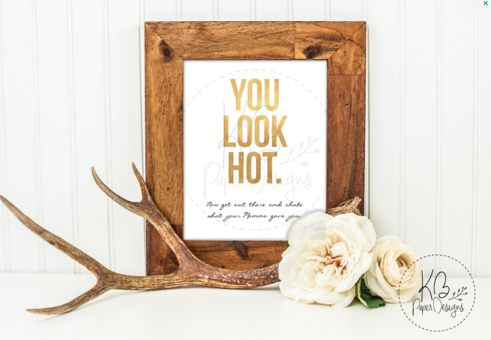 Table Top Signs - Another great instant download - with the effect of faux gold, without the price of real foil, this sign has been the perfect design for brides and their wedding decor.
