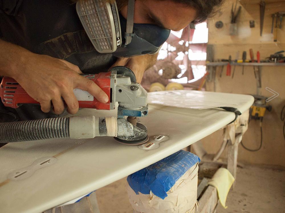 Crack in Surfboard repair