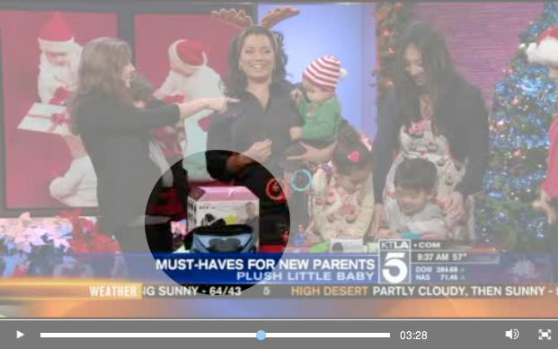 Baby Nari Baby Hip Hugger packaging makes appearance on KTLA Channel 5 Morning Show (Los Angeles, CA)  // Dec. 2011