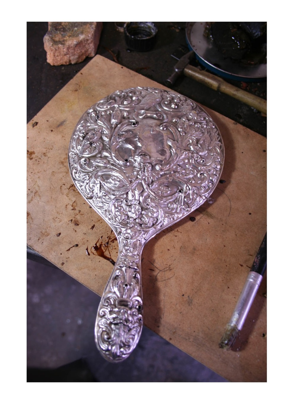 restoration on silver handmirror.jpg