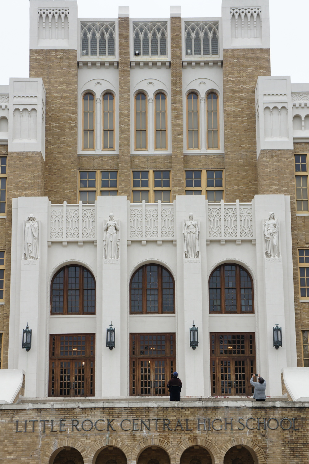 Central High School - site of the first integrated high school.