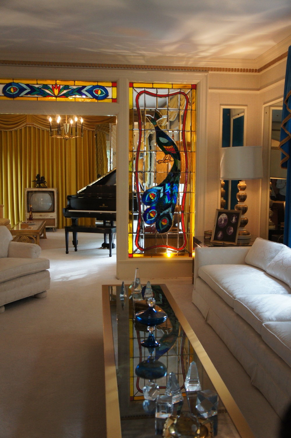 A shot of the inside of Graceland. Just a sample of the wonders of the house.