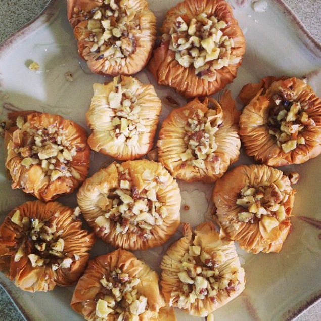 My attempt at Baklava. Courtesy of Talinn D.