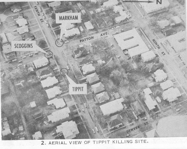 Photo 4- Crime scene aerial view of J.D. Tippit, and witness locations.jpg