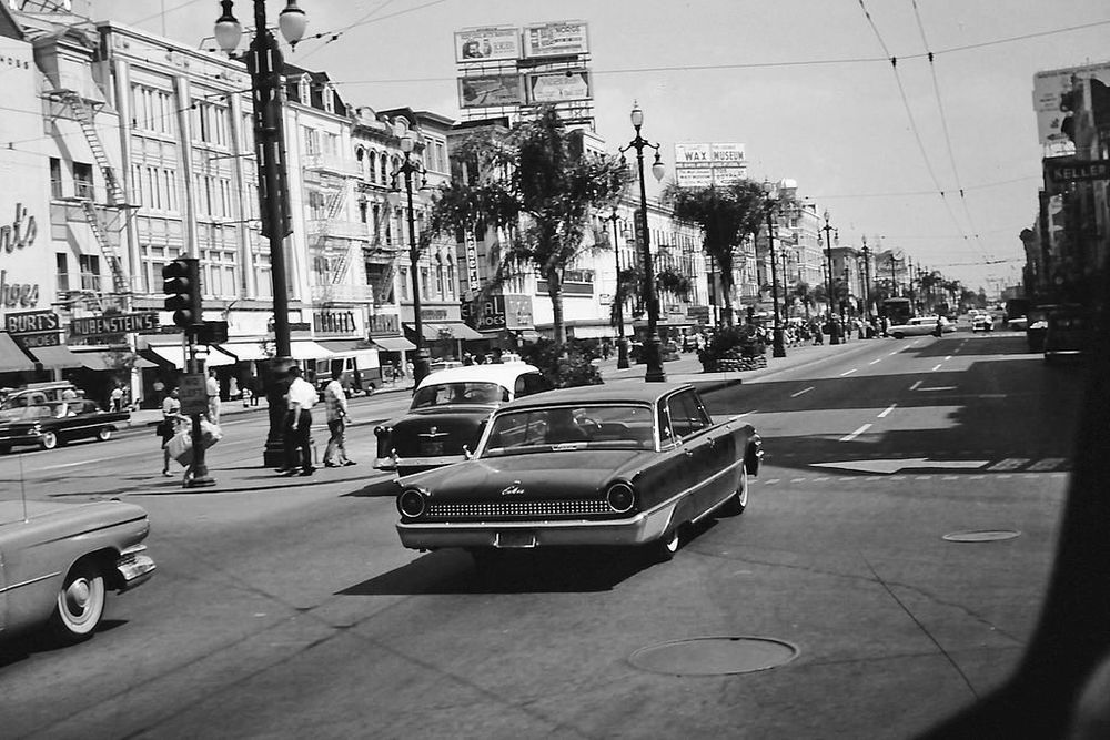 A 1963 view of Canal Street in New Orleans, Louisiana