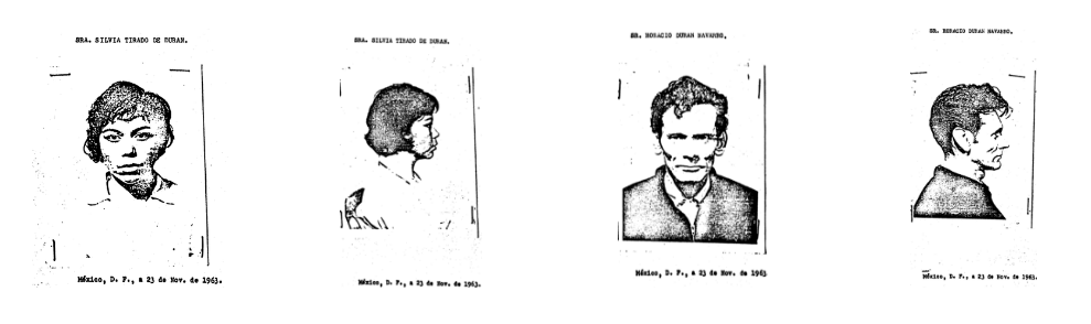 The Mexican Police Mug Shots of Silvia Tirado De duran and Horacio Duran Navarro