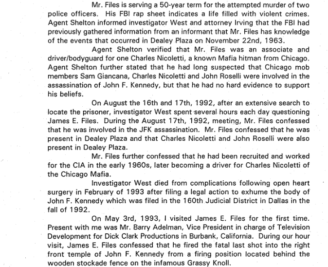 Some of The CLaims Bob Vernon Presented to A Hearing of the Assassination Records Review Board