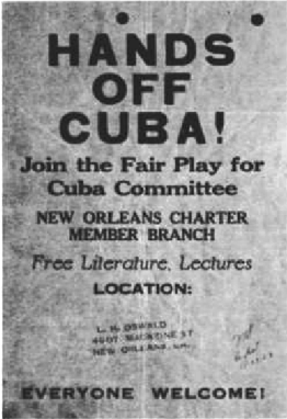 A Handbill promoting A Non-Existent Fair Play for Cuba Committee Chapter