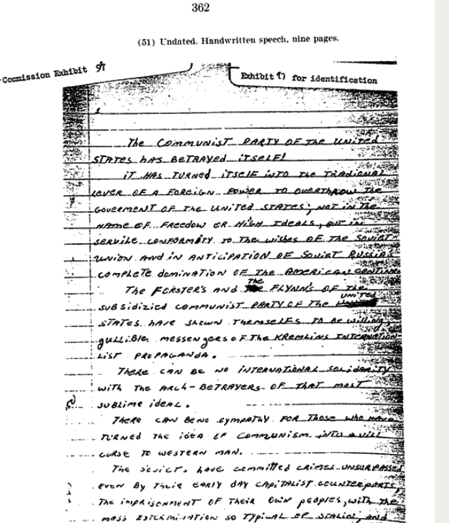 Oswald Rebukes AMERICAN Communism