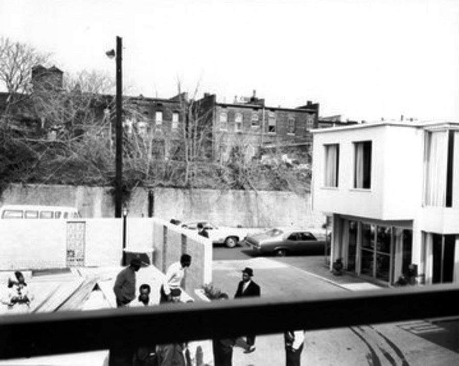 Photo 39-Lorraine Motel balcony view of the rear Boarding house and Jim's Grill.jpg