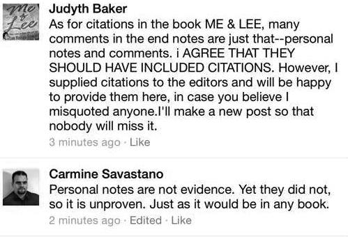 My exchange with Judyth V. Baker Regarding her assertion that Public Claims are verifiable Sources