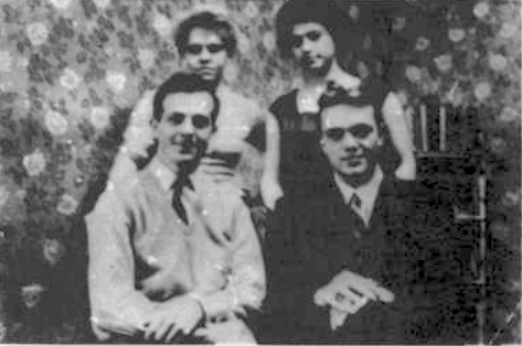 Lee Harvey OSwald is photographed sitting with friends during his Time in Russia