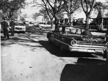 The J.D. Tippit Crime Scene Following his Shooting Circa 1963