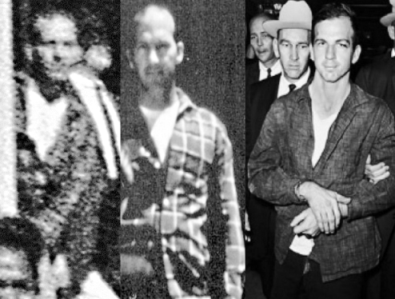 From LEft to Right are the Altgens-6 Doorway Figure, Billy Lovelady, and Lee Harvey Oswald