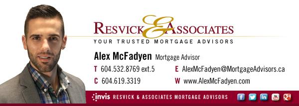 Alex McFadyen Mortgage Advisor Invis Resvick and Associates