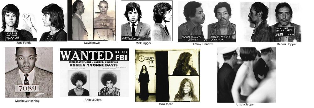 """""""Verhaftet"""" /Polizeifotos 1960-1970  ( Foto: U. Seppel ©  Kai Greiser,  Spiegel einestages  )"""