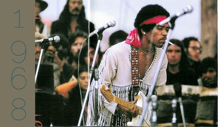 Jimi Hendrix, Woodstock, 1968