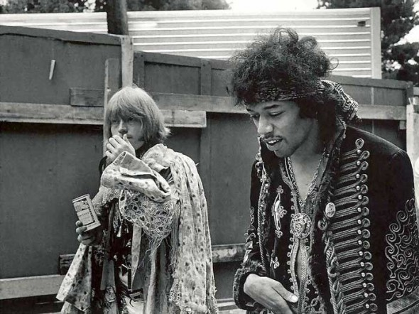 Jimmy Hendrix und Brian Jones