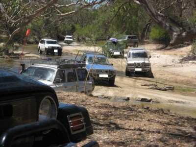 Some 4WD'ing at Moore River at an Aus. day event