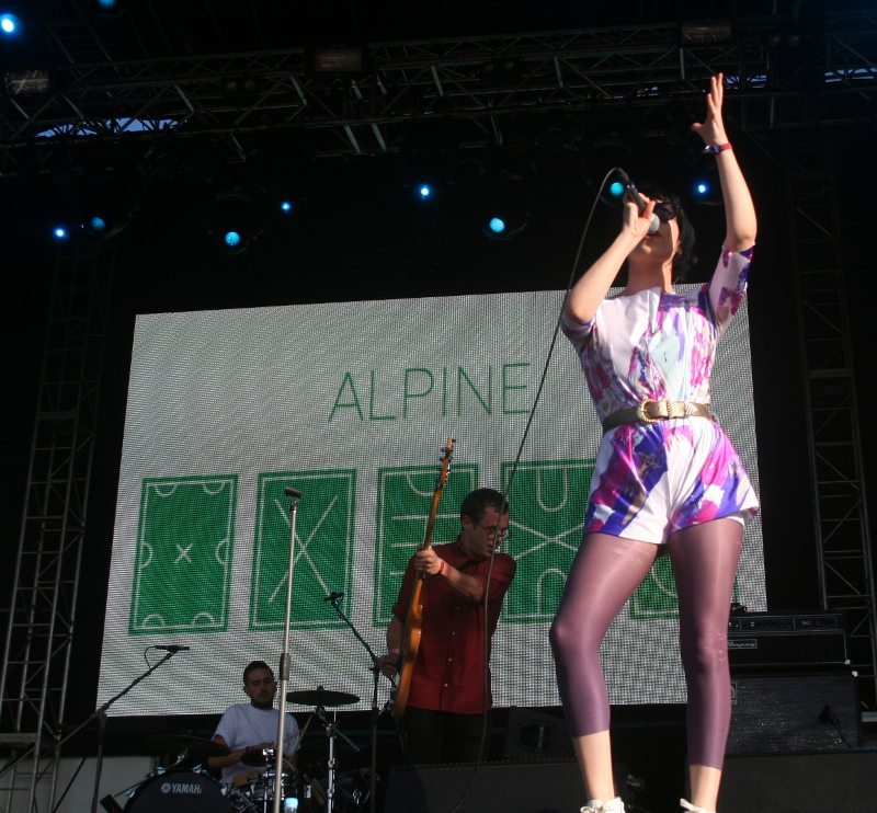 Alpine lived up to the hype, with more urgency and energy than on their album