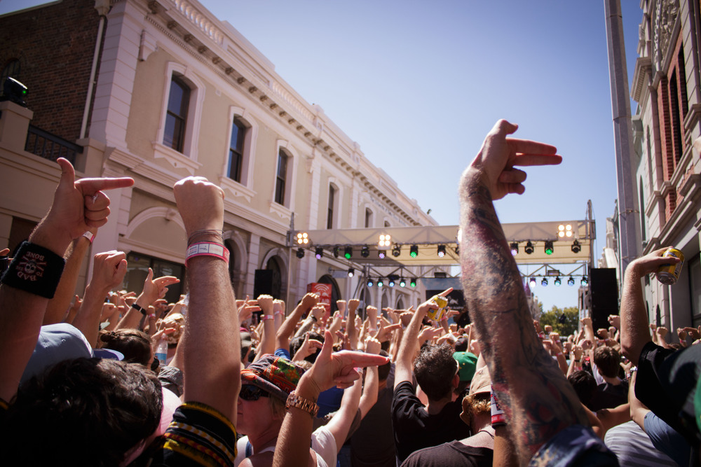 Killer Mike and El-P got the crowd makin' fists and guns. Run the Jewels was a highlight of the day.