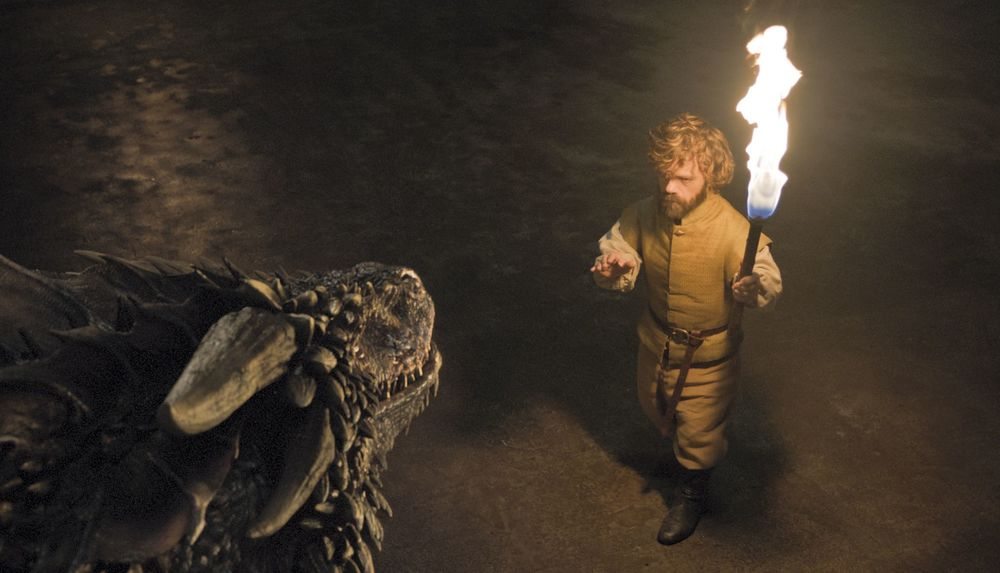 Pictured: My man Tyrion was ON FIRE this episode! (I'll show myself out)         SOURCE: HBO
