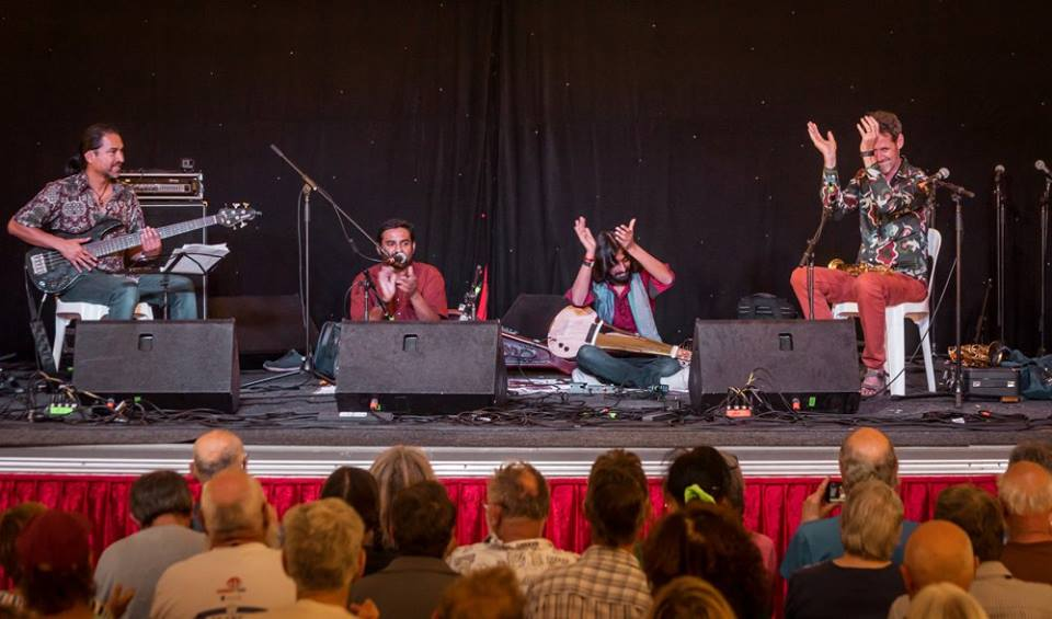Praashekh Borkar Quartet playing Djindalux Photo by Richard Watson