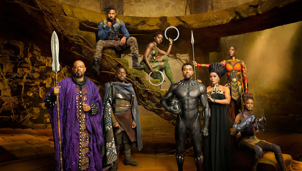 The Cast of Black Panther.        Credit: Disney/Marvel Studios