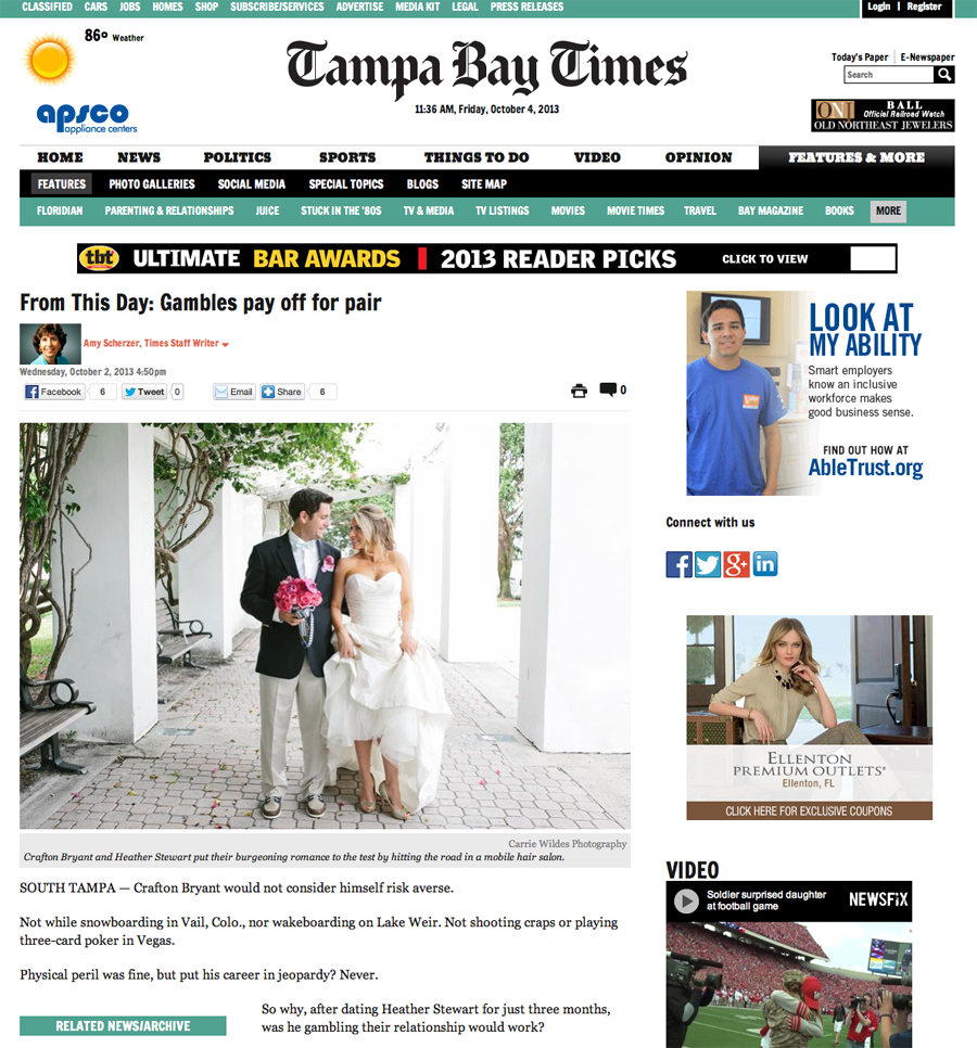 10_4_13 Tampa Bay Times Wedding Feature.jpg