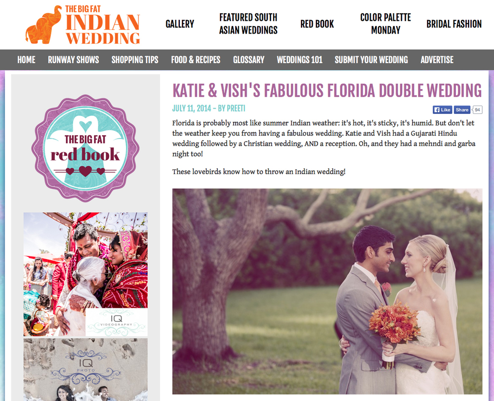 Katie Vish Featured On Big Fat Indian Wedding Blog Carrie Wildes Photography