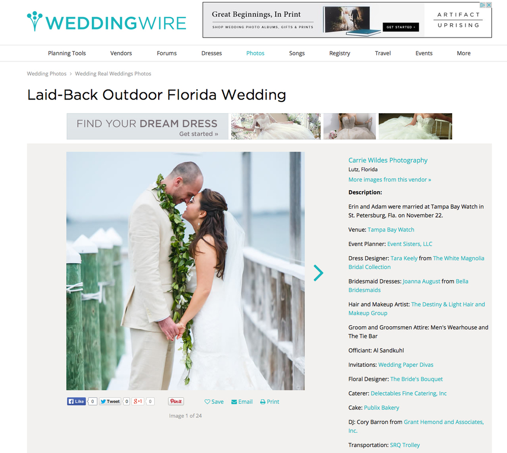 Erin & Adam Featured on Weddingwire — carrie wildes photography