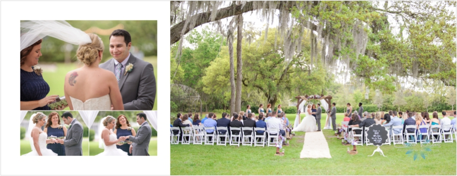 It was a tiny bit breezy, and the most beautiful scene of Lauren and Brian saying their vows under the huge oak tree.