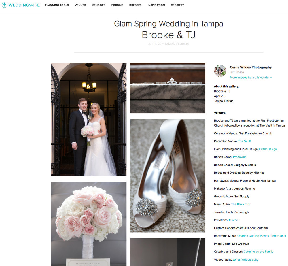 Brooke & TJ Featured on Weddingwire! — carrie wildes photography
