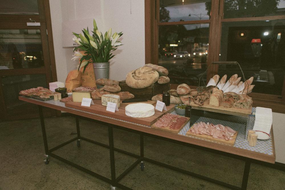 The communal cheese board